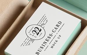PSD Business Card MockUp 2