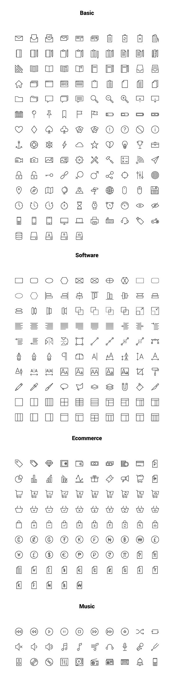 Linea: Free Outline Iconset | GraphicBurger