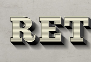Retro Text Effect | GraphicBurger