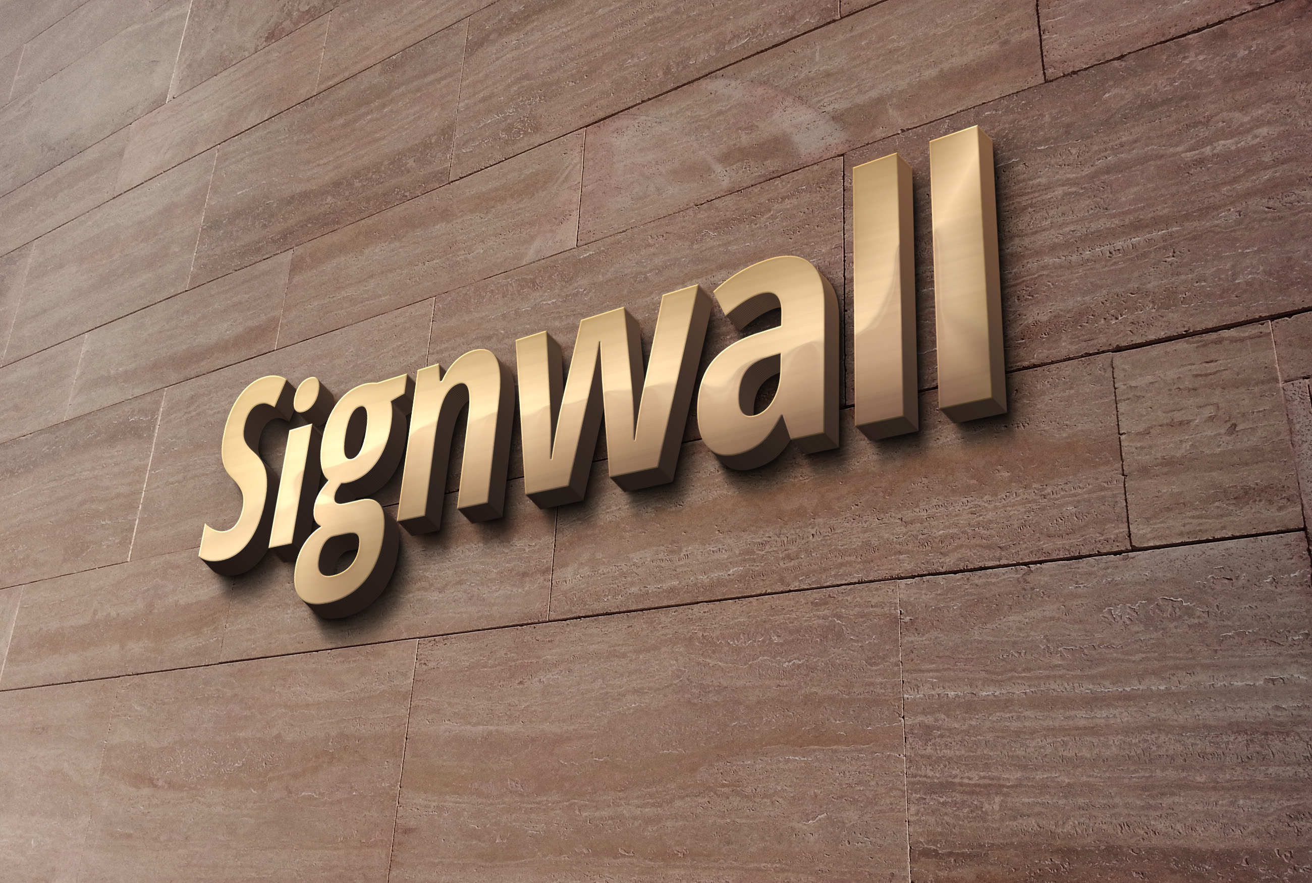 3d Wall Logo Mockup 2 Graphicburger