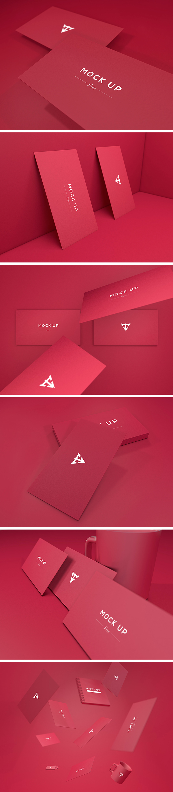 6 business cards mockup graphicburger