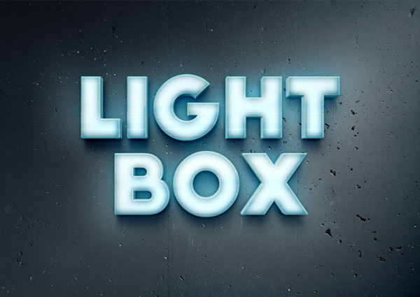 Lightbox Text Effect Graphicburger