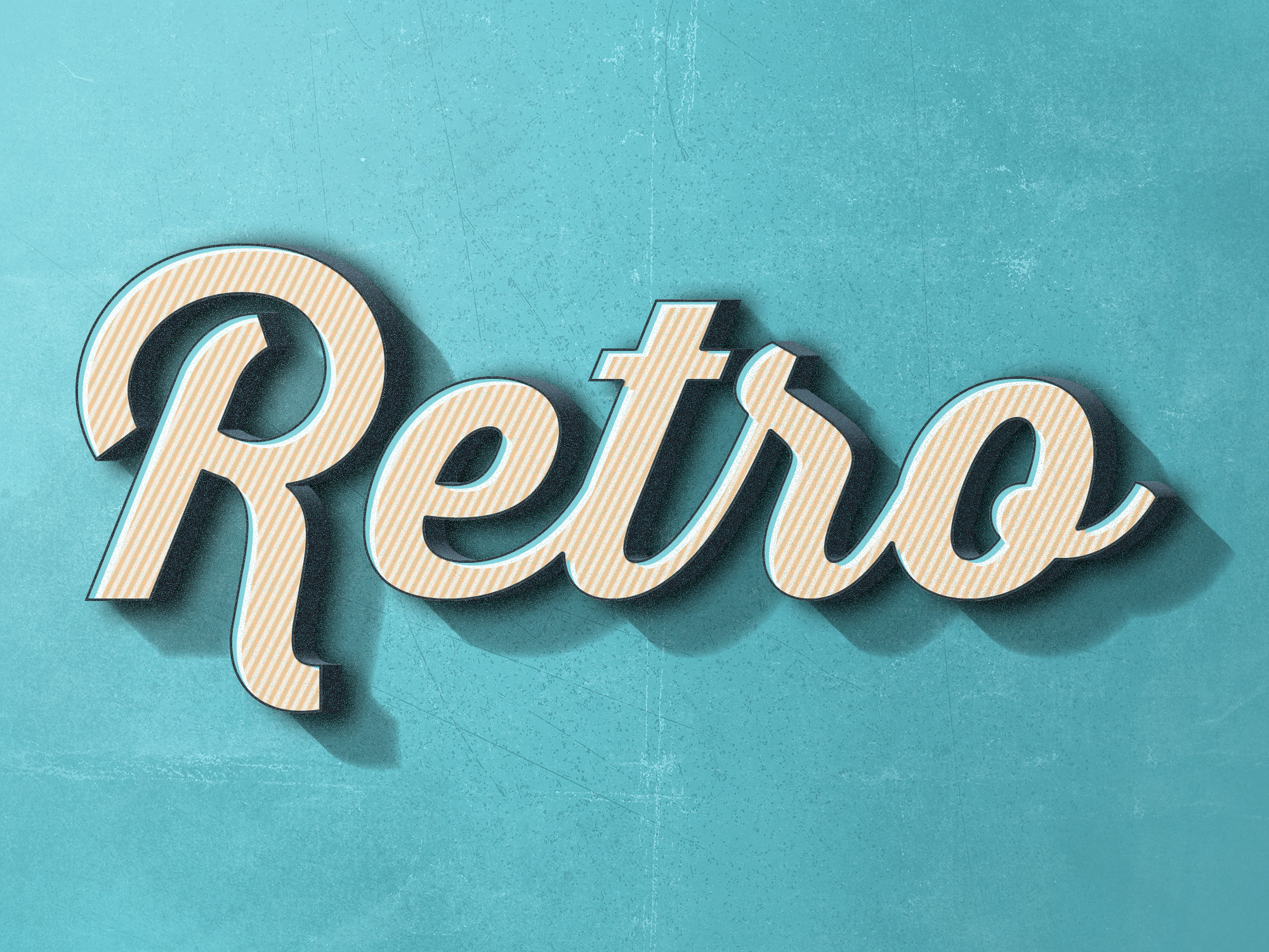 Retro Text Effect #2 | GraphicBurger