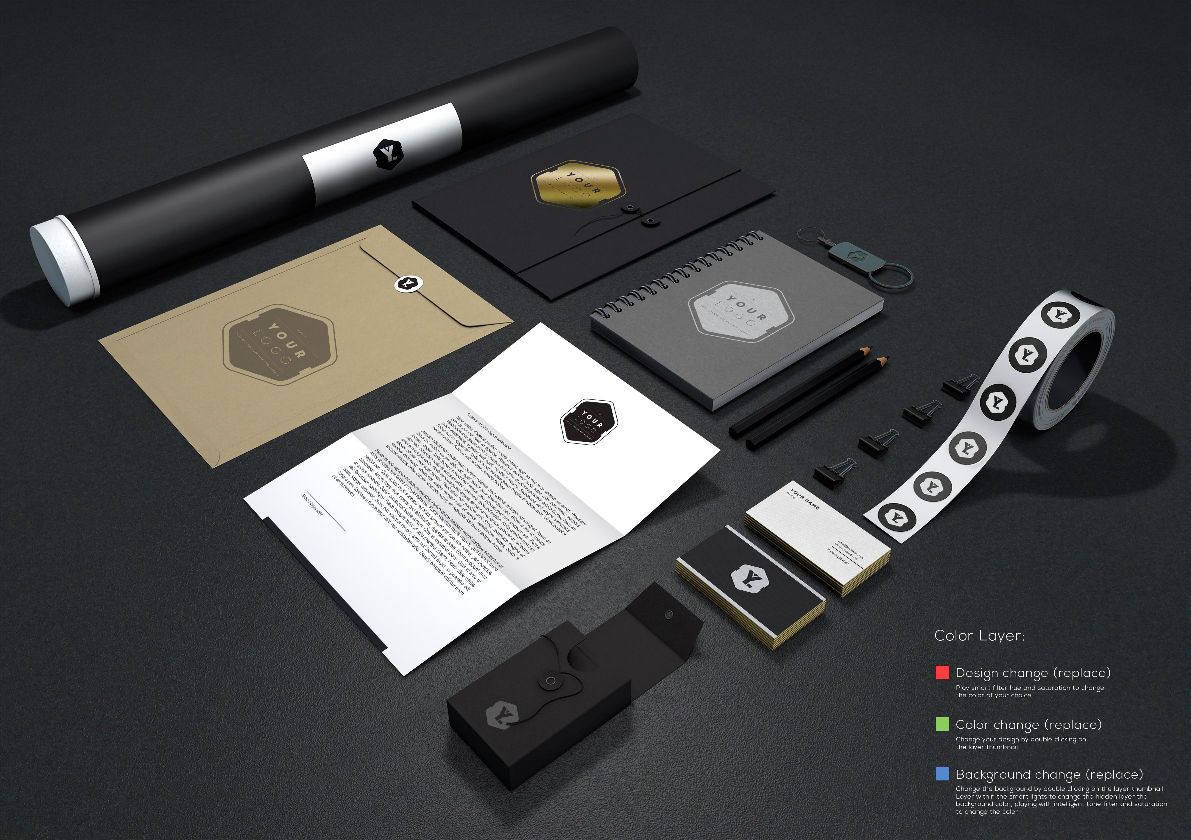 Branding Identity Mockup Vol 11 Graphicburger