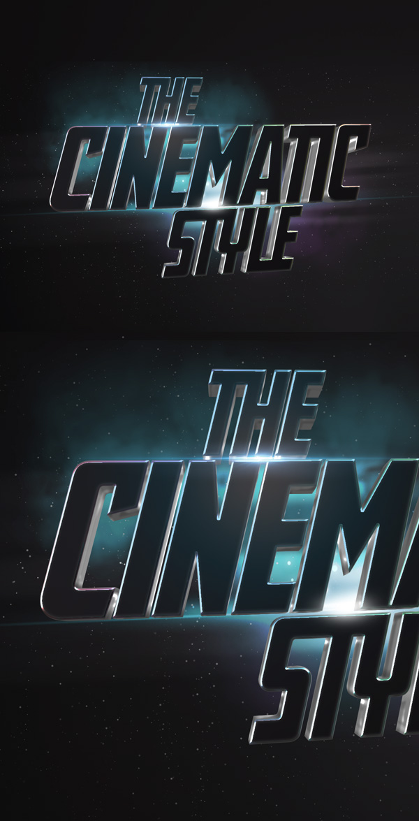 Cinematic 3D Text Effect | GraphicBurger