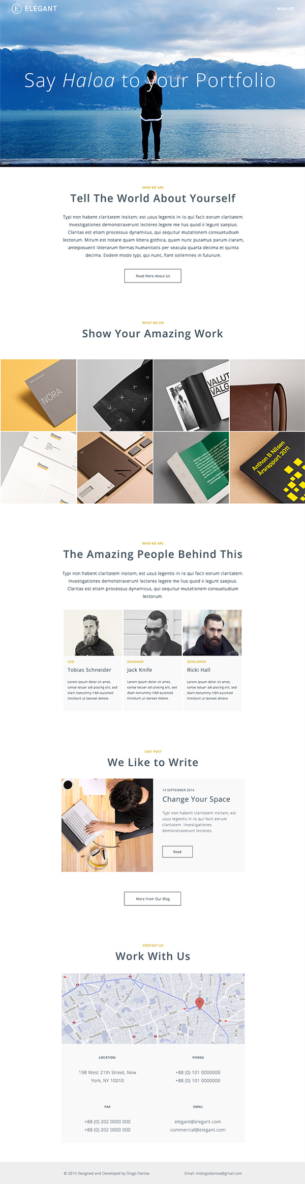 Elegant – Free HTML / PSD Template | GraphicBurger