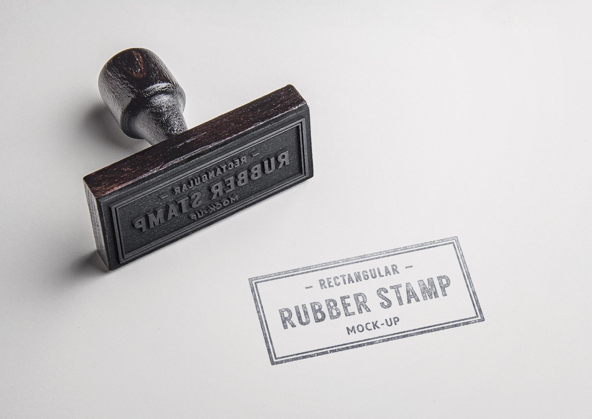 Rubber Stamp PSD MockUp #2 : GraphicBurger