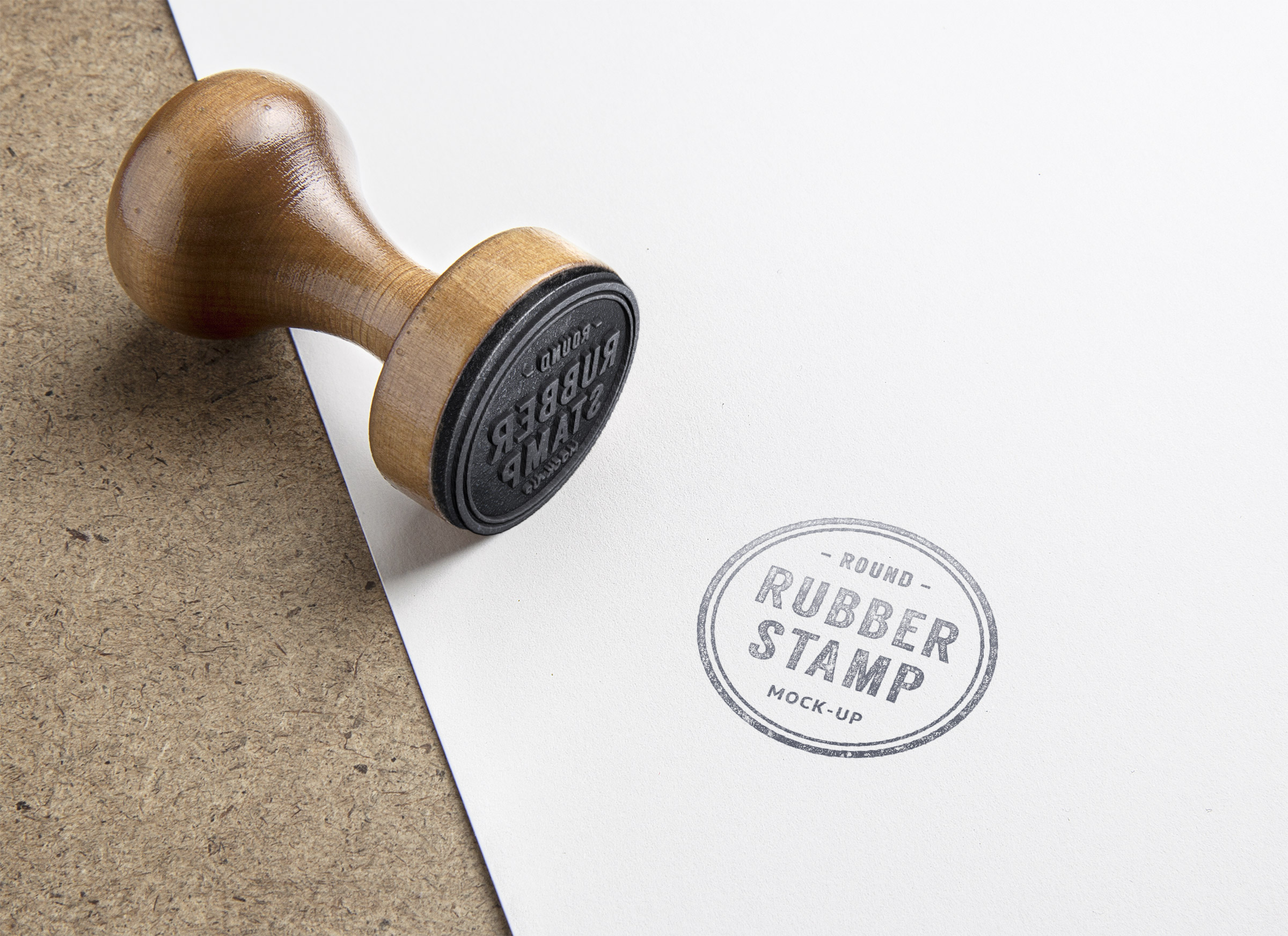 Rubber stamp psd mockup graphicburger full preview reheart Choice Image