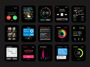 Apple Watch GUI PSD | GraphicBurger