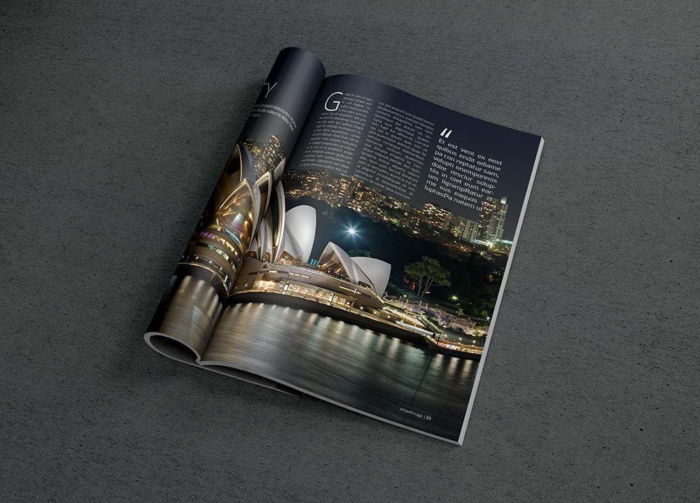 magazine mockups psd