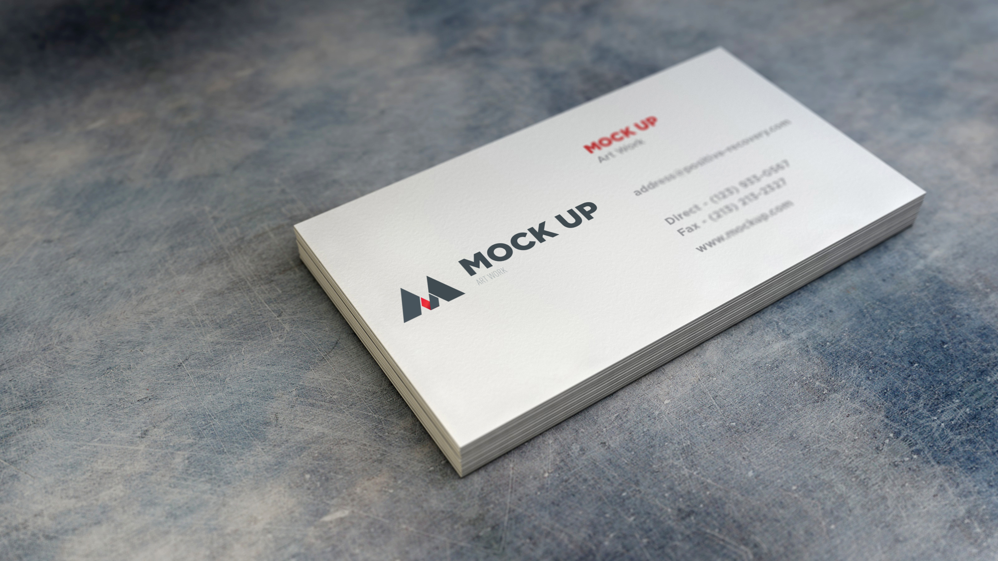 realistic business card mockup 2