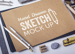 Hand drawn sketch mockups graphicburger