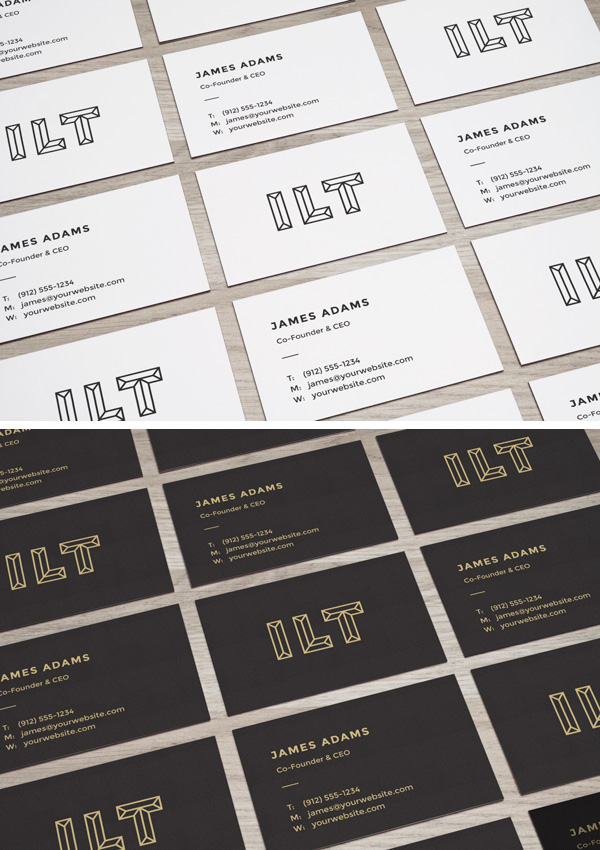 Perspective business cards mockup graphicburger perspective business cards mockup reheart Image collections
