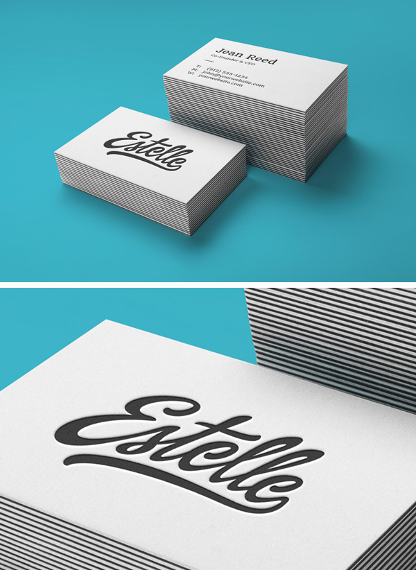 Stack letterpress business cards mockup graphicburger full preview colourmoves