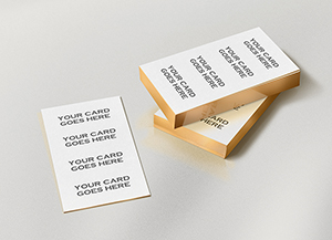 Business card graphicburger gold edge business cards mockup colourmoves Images