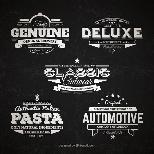 5 retro badges by freepik graphicburger