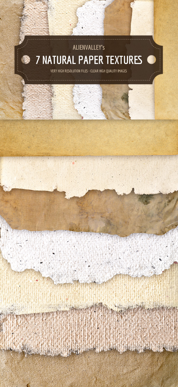 7 Natural Paper Textures | GraphicBurger