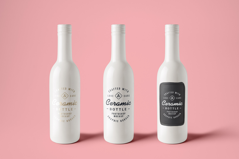 Ceramic Bottles Psd Mockup Graphicburger