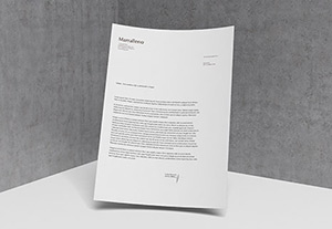 Beautiful Letterhead MockUp PSD | GraphicBurger