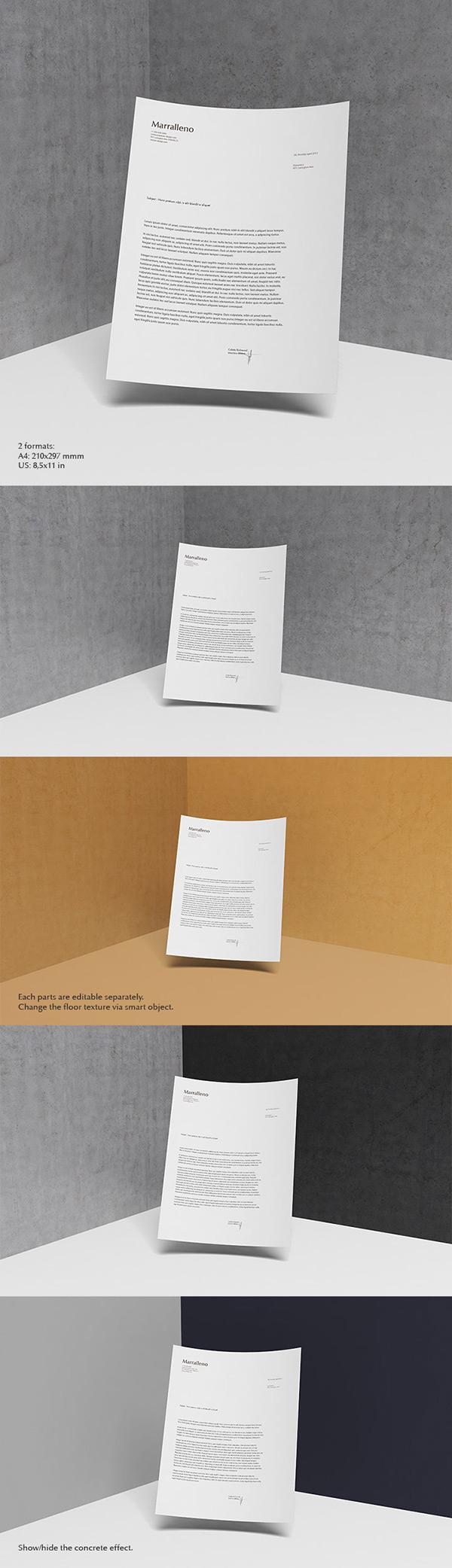 letterhead mockup psd graphicburger