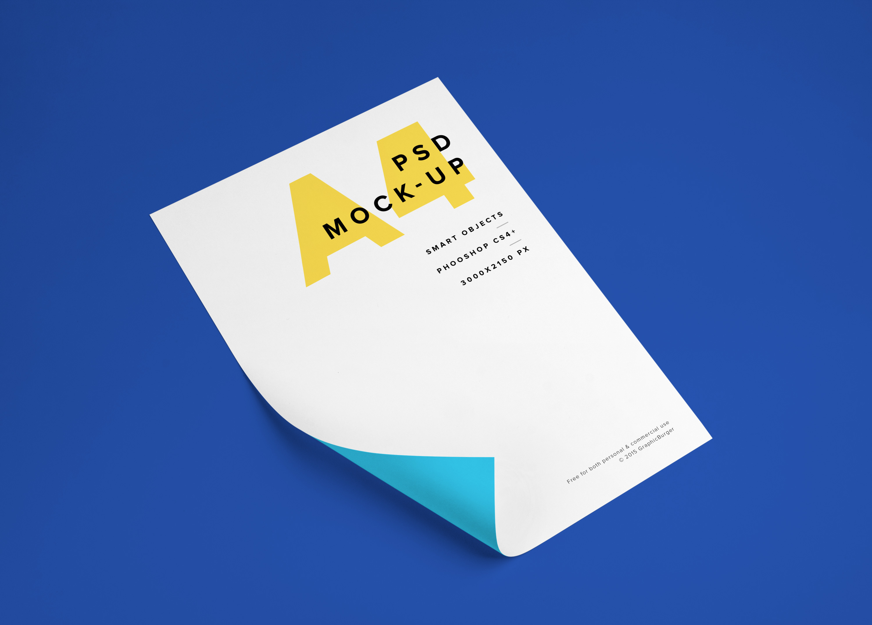 a4 paper psd mockup 2 graphicburger
