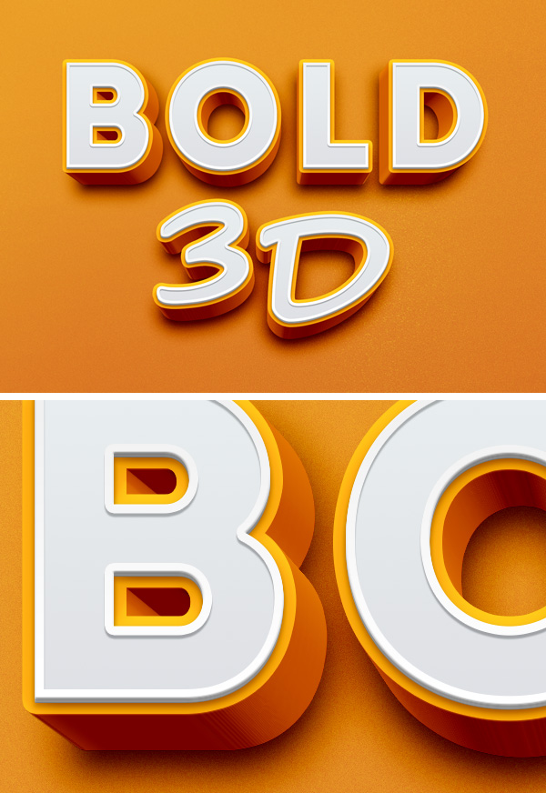 Bold 3D Text Effect | GraphicBurger