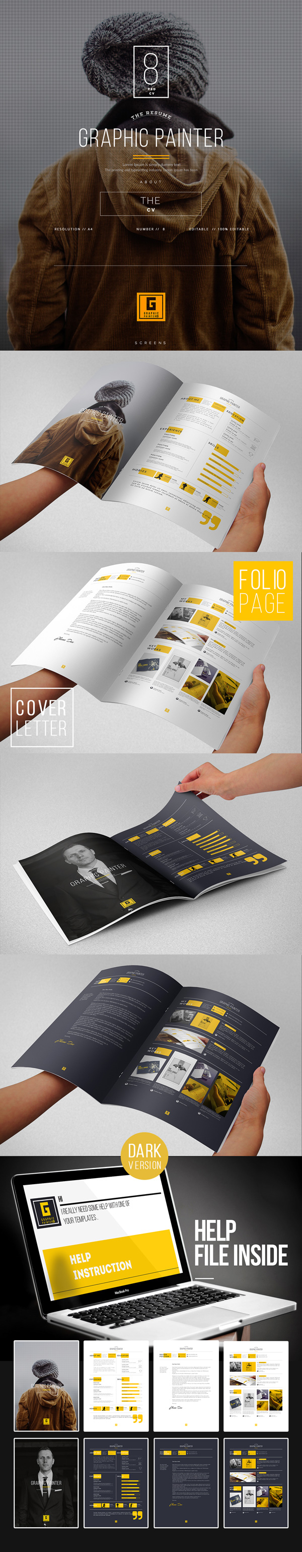 creative resume template graphicburger