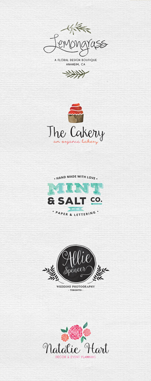 5 watercolor logo templates graphicburger 5 watercolor logo templates cheaphphosting Gallery
