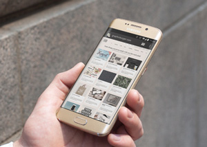 City Street Android MockUp PSD | GraphicBurger
