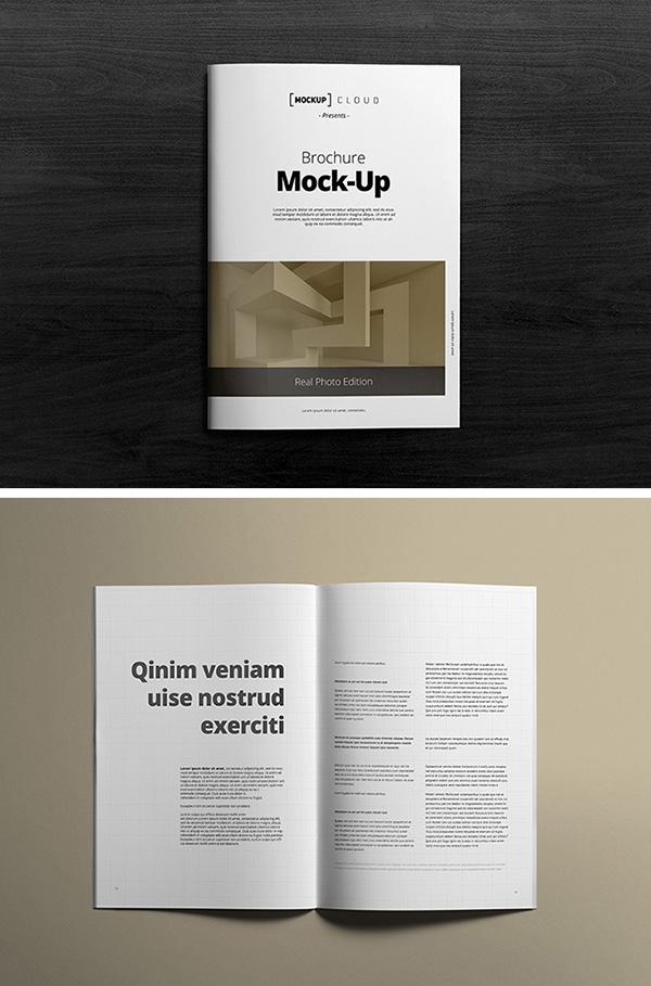 A4 Brochure Mockups Graphicburger
