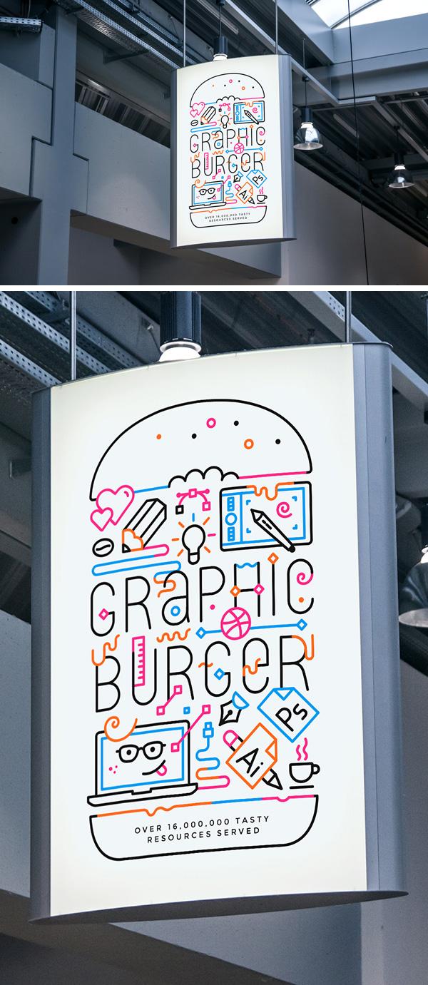 Indoor Advertising Poster Mockup 2 Graphicburger