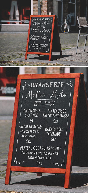 A Frame Chalkboard Menu Mockup Graphicburger