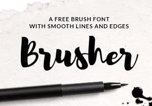Brusher Free Font | GraphicBurger