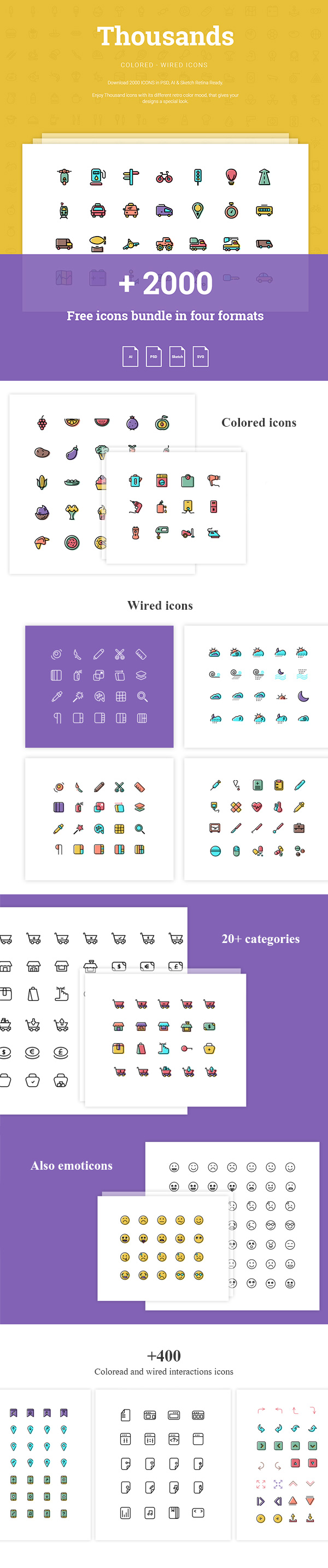 Thousands: 2000+ Free Icons | GraphicBurger