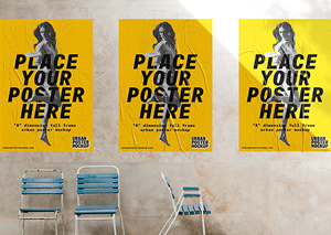 3 Urban Poster Mockups Graphicburger