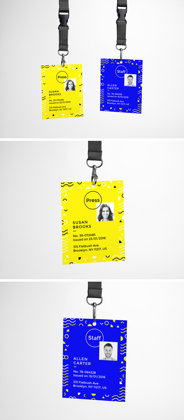 ID Card PSD MockUp GraphicBurger - Free lanyard template
