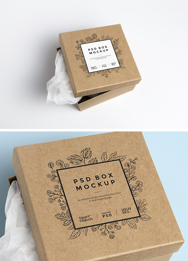 cardboard box psd mockup graphicburger