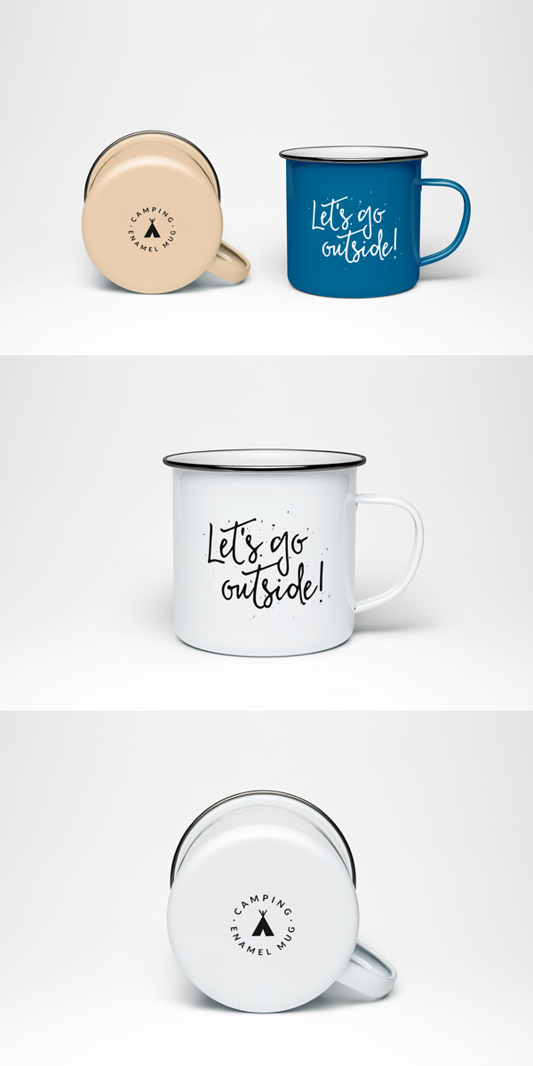 Enamel Mug Psd Mockup Graphicburger