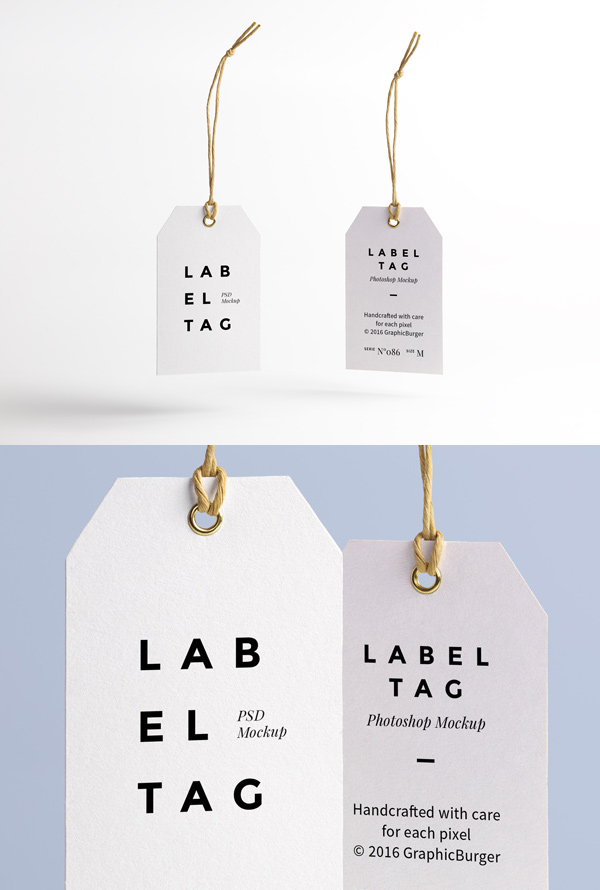 label tag psd mockup graphicburger