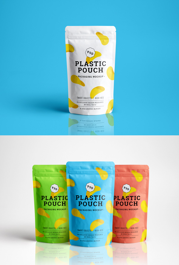Plastic Pouch MockUp 600