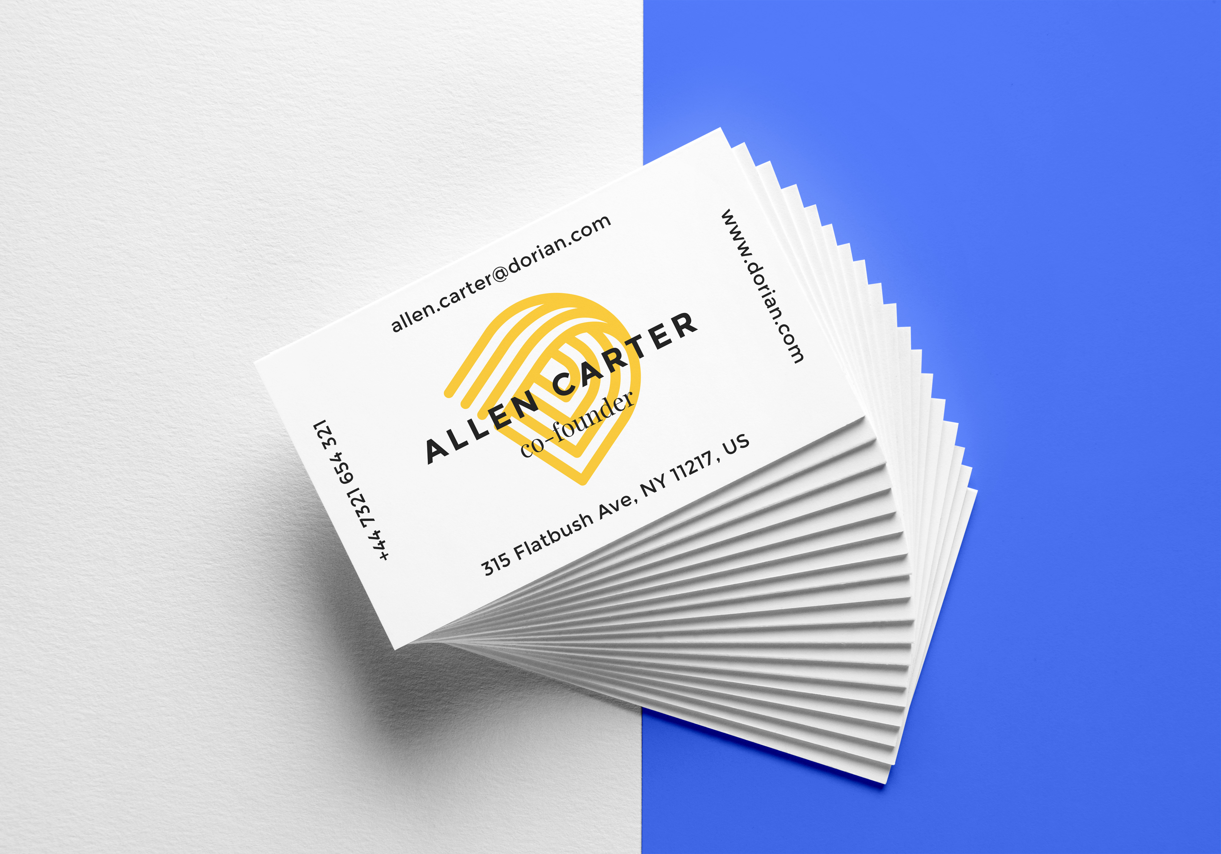 Realistic Business Cards MockUp #6 | GraphicBurger