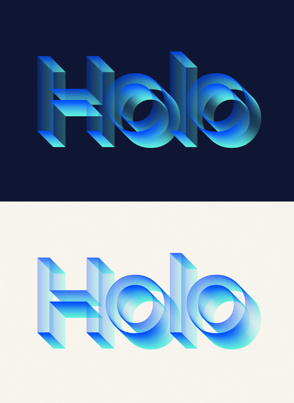 Holo Text Effect Graphicburger