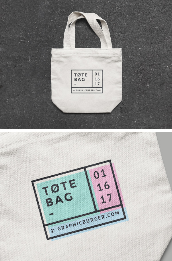 Small Canvas Tote Bag Mockup