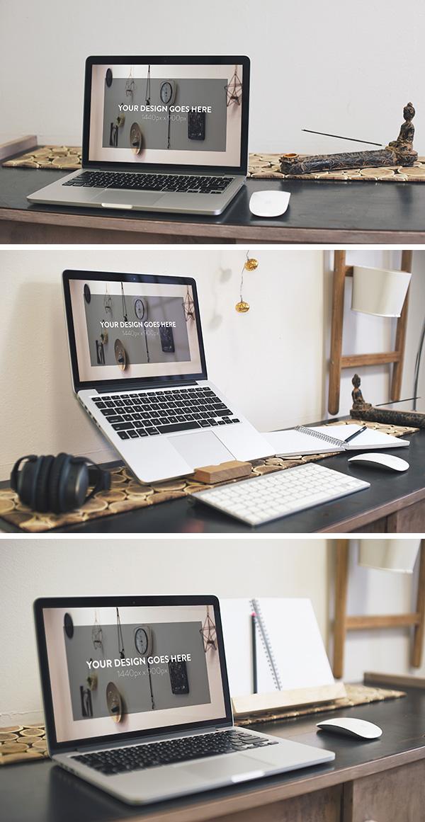 [Photoshop] 3 Elegant Macbook Pro MockUps photoshop gratuit Apple-device-600