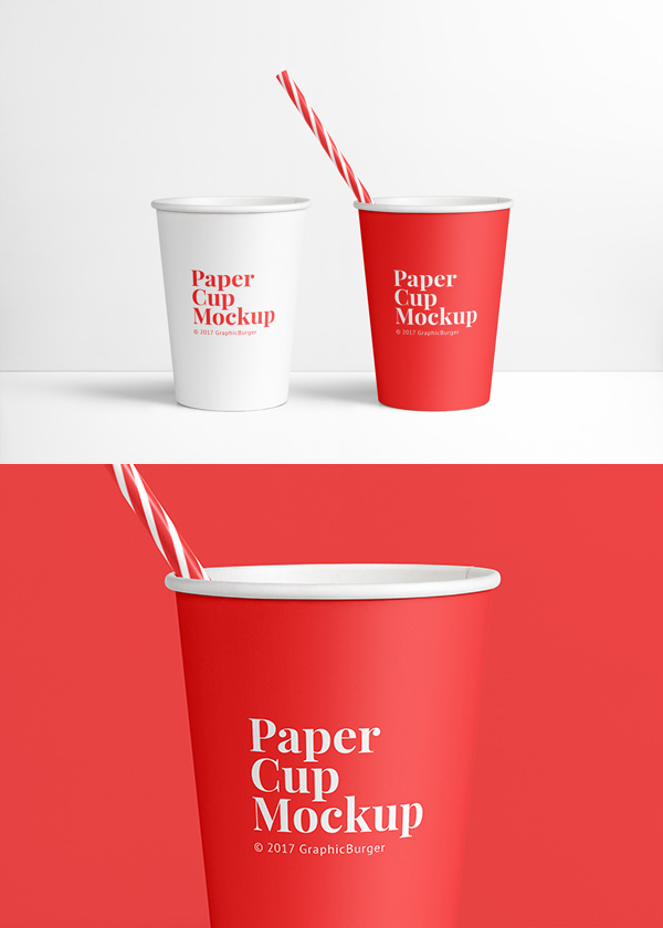 Paper Cup Mockup Psd Graphicburger