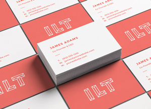 Business card graphicburger perspective business cards mockup 2 reheart Image collections