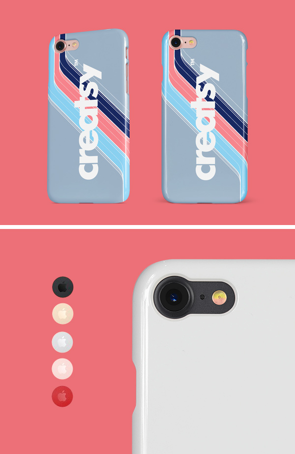 iphone glossy snap case mockup
