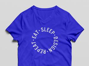 V-Neck T-Shirt MockUp PSD   GraphicBurger
