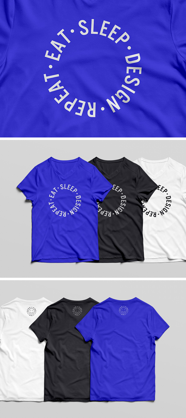 v-neck shirt mockup templates free download