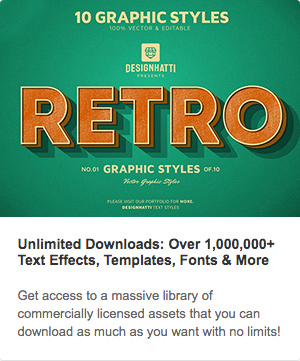 Envato sponsored text effects
